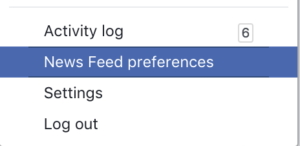 Facebook Newfeed Preferences