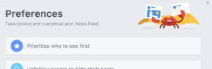 Facebook Newfeed Preferences - See First