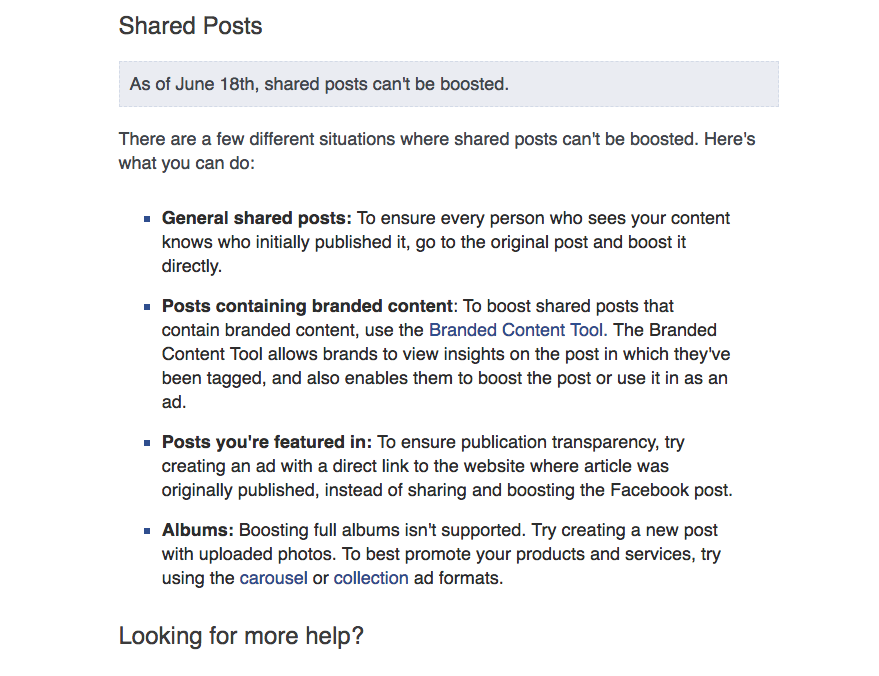 boosting shared posts