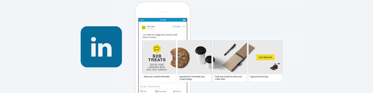 LinkedIn Launches Sponsored Content Carousel Ads